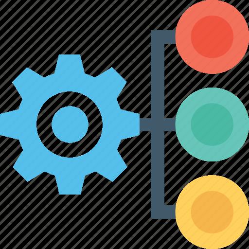 cog, gear, hierarchy, management, productivity icon