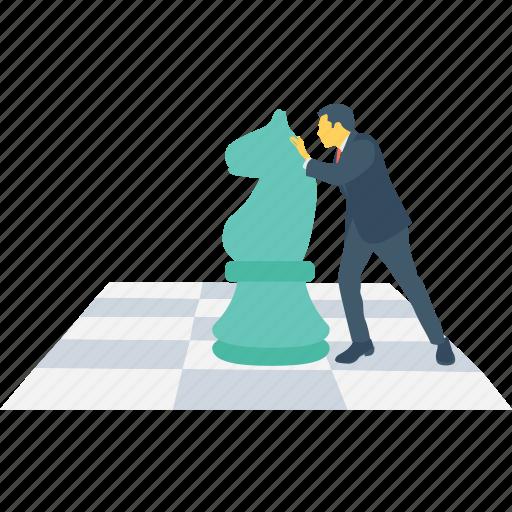 business, chess, development, piece, strategy icon