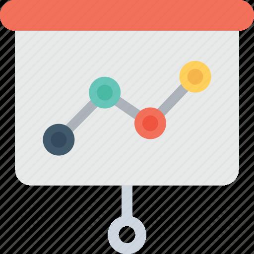 graph, lecture, presentation, seo, training icon