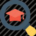 cap, find, graduate, mortarboard, tassel icon