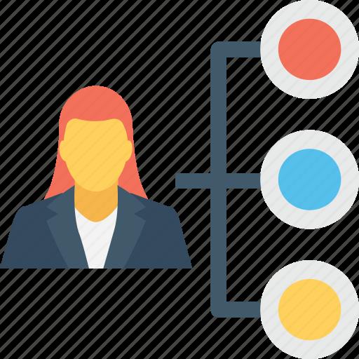 company, hierarchy, personnel, staff, team icon