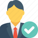 avatar, businessman, client, male, promotion icon