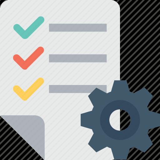 checklist, cog, memo, preferences, tasks icon