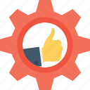 cog, configuration, feedback, management, preferences icon