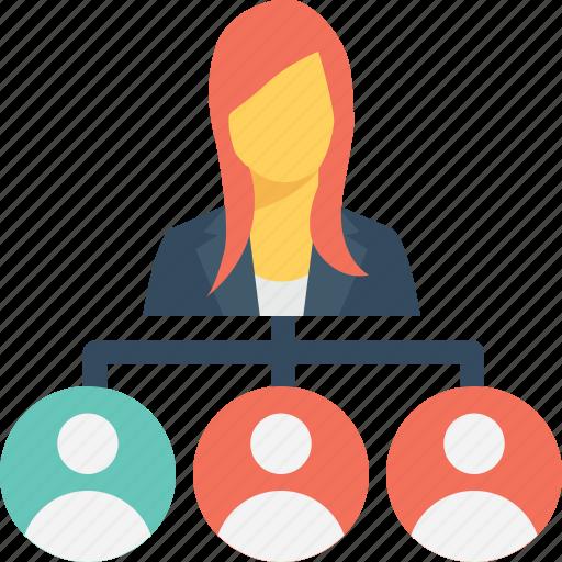 boss, hierarchy, leader, principal, team icon