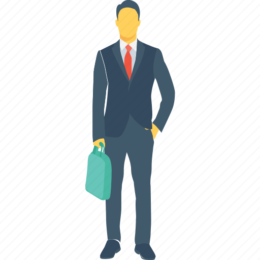 banker, businessman, client, male, worker icon