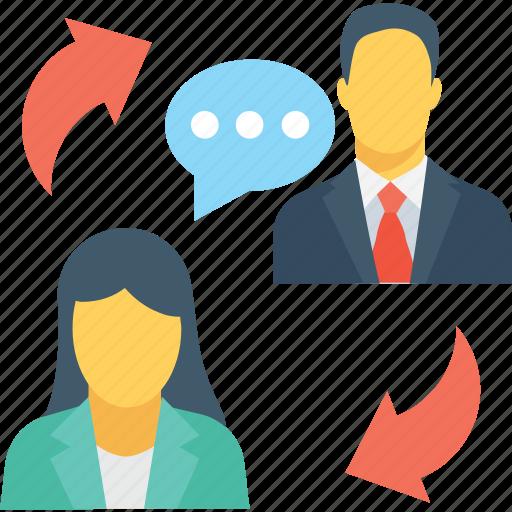 communication, discussing, speech, talk, user icon