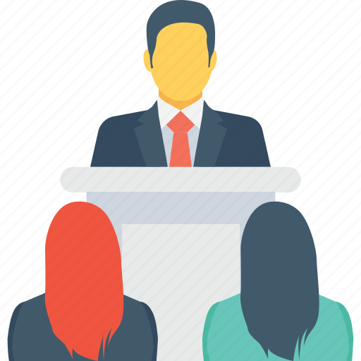 convention, lecture, presentation, speaker, speech icon