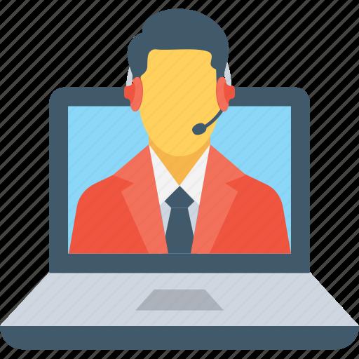 agent, help center, helpline, representative, service icon
