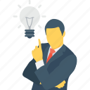bulb, business, creative, idea, plan icon