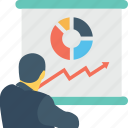 graph, lecture, presentation, training, tutorial icon
