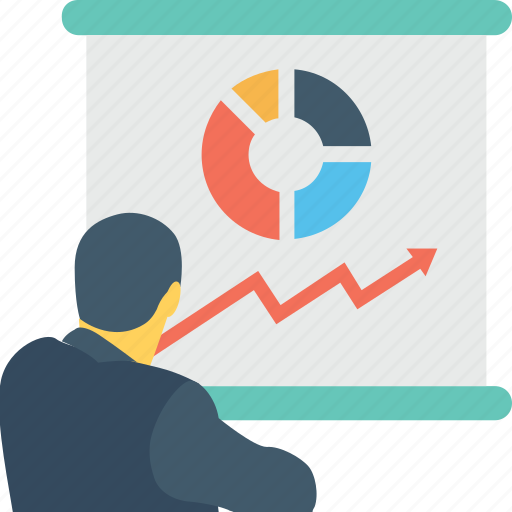 graph, lecture, presentation, training, tutorial icon
