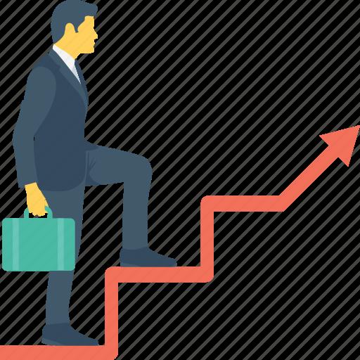 business, career, progress, promotion, success icon