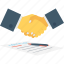 business, deal, partner, partnership, shake hand icon