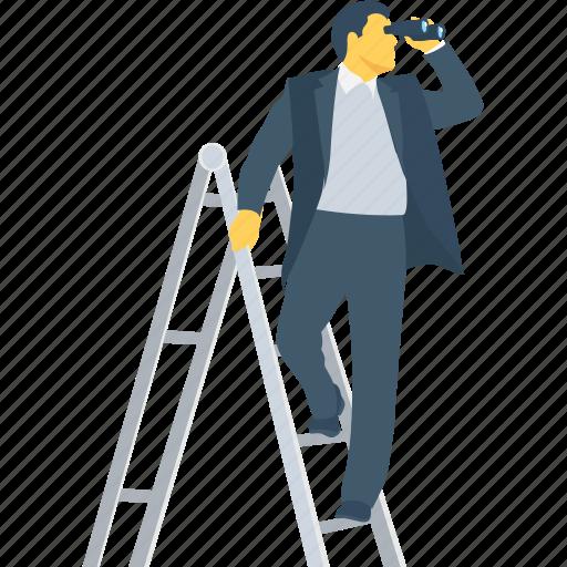 ambition, future, look, telescope, view icon