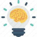 brain, bulb, business, idea, light icon
