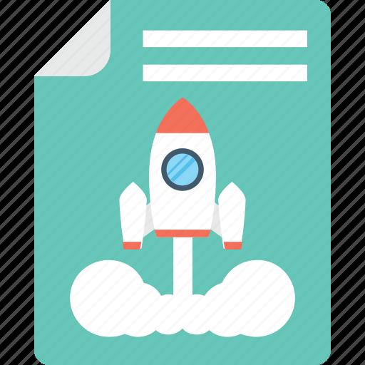 file, missile, rocket, spacecraft, startup icon