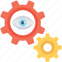 cog, eye, look, preferences, view icon