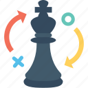 business, chess, development, piece, strategy icon