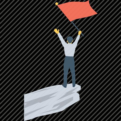 achievement, flag, gaining, goal, reach icon