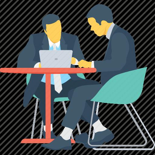 business, discuss, educate, explaining, guideline icon