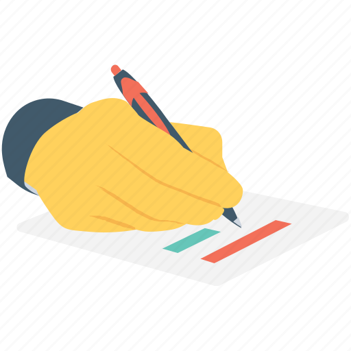 cheque, contract, editing, pen, writing icon
