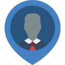 employee, hr, human, location, resources icon