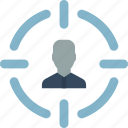 candidate, hr, human, resources, target icon