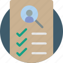 checklist, hr, human, resources icon