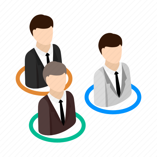 business, interview, isometric, job, occupation, office, people icon