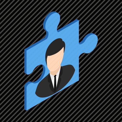 business, concept, idea, isometric, puzzle, solution, success icon
