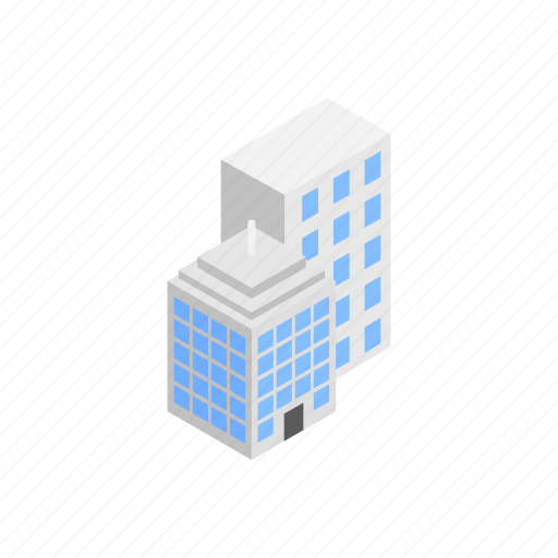 Architecture Building Business Cartoon City Isometric Office Icon