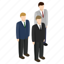businessman, consultant, isometric, people, person, team, teamwork icon
