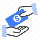cash out, donate, management, money, pay, payroll, salary icon
