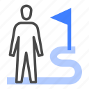 behaviour, business, commitment, connection, employee, goal, mission icon