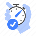 time, organize, stopwatch, management, schedule, plan, task icon