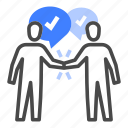 agreement, communication, contract, deal, discussion, negotiation, relationships icon