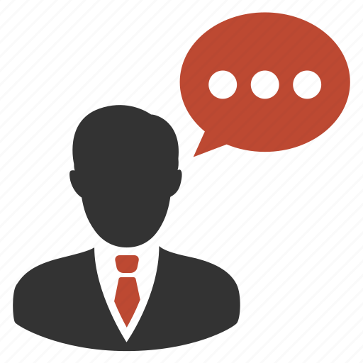 business, male, man, speech icon