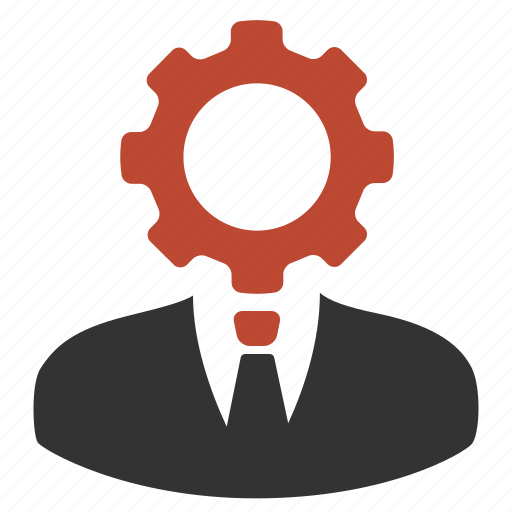 business, gear, man, settings icon