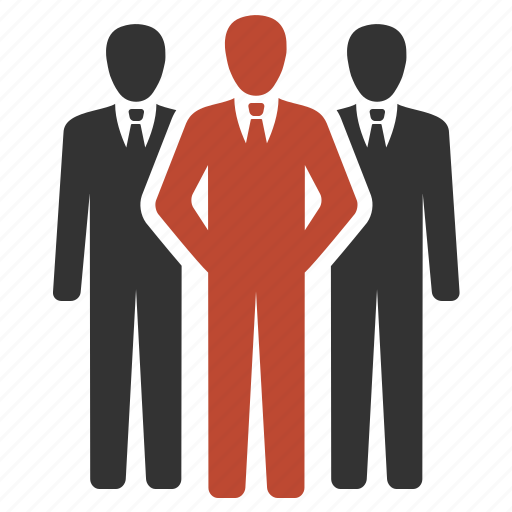 Business, community, group, men, office icon
