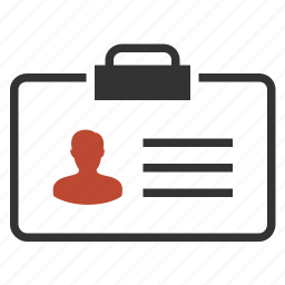 badge, card, employer, identification icon