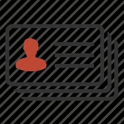 address, card, contact, profile icon