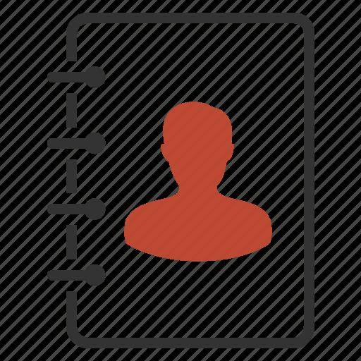 contact, human, list, profile icon