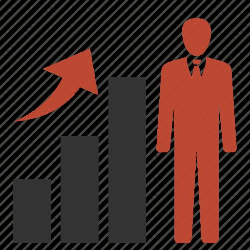 human, potencial, profit, resources, success icon