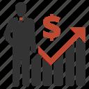 profit, businessman, dollar, presentation