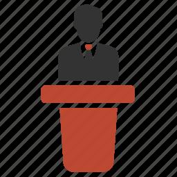 orator, speaker, speechmaker, talker icon