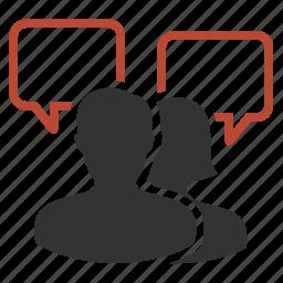 conference, dialogue, gossip, talk icon