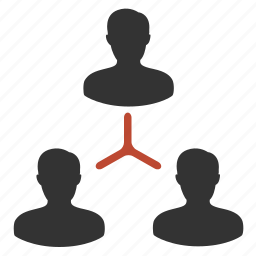 building, hierarchy, management, team icon