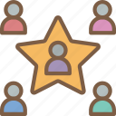 employee, hr, human, resources, star icon