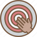 goals, hr, human, reaching, resources icon